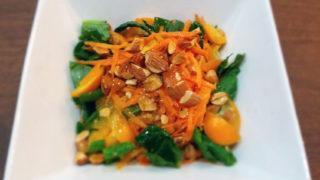小松菜ときんかんのサラダ